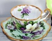 Clarence Bone China Tea Cup & Saucer