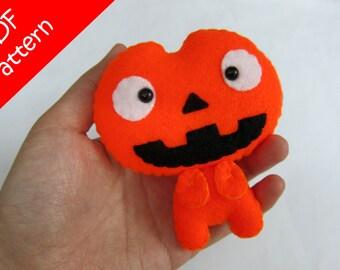 Pumpkin Plush PDF Pattern -Instant Digital Download