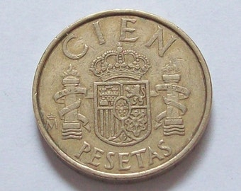 1980s Spain 100 Pesata Coin