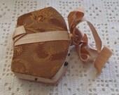 Vintage Needle Case Fabric and Ribbon Purse Shape
