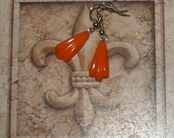 Dangle Earrings Orange Vintage Dangles