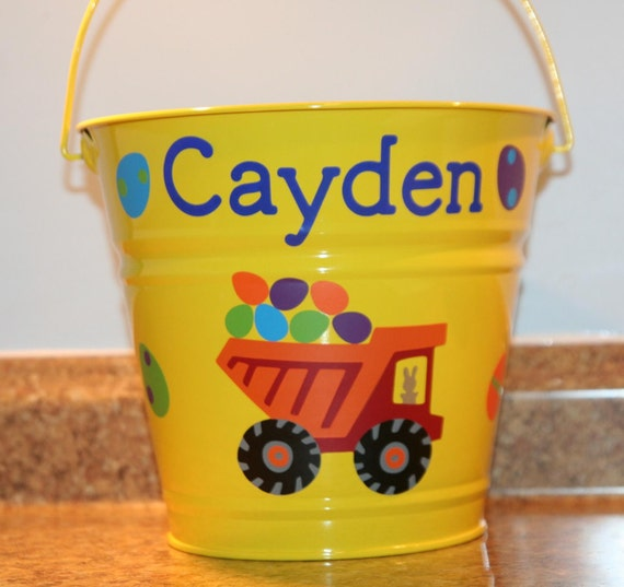 Personalized Toys For Boys : Personalized toy birthday or easter basket pail for boys