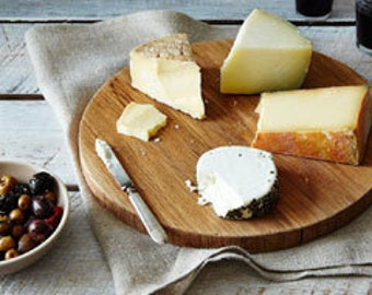 Natural White Oak. Wood Slab. Rustic Pie Tray. Kitchen. Cheese Board. Round. Cutting Board. Cake Stand. FOOD52 collab. Summer Party.