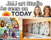 Art painting Jmjartstudio Original Painting 20 X 64 Inches -------Today Show------FREE US Shipping- custom