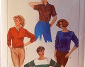 Casual Pullover Shirt Pattern, Weekend Comfortable Top, Simplicity 6710, Misses 6 or 8, Boatneck, Blouson, Henley