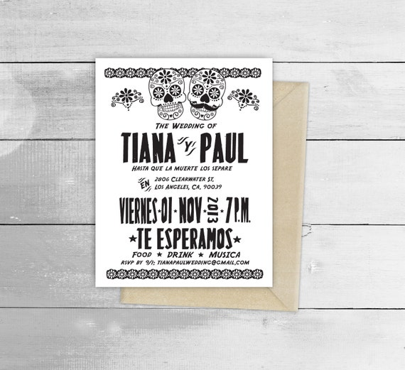 Day of the dead fiesta wedding design invitation by viva greetings il570xn m4hsunfo