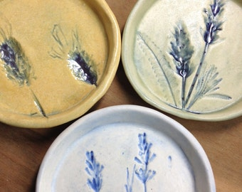 """Lavender 4"""" coaster, plate, dipping bowl, jewelry dish, tea bag rest"""