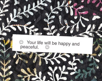 happy and peaceful - 8x10 printable art