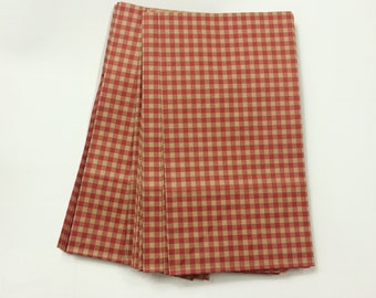 SALE // 20 Red gingham check paper bags