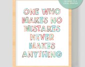 """PRINTABLE Art """"One who makes no mistakes"""" 8x10 inches (20.32 x 25.4 cm) -(Instant Digital Download - No Physical Product will be shipped)"""
