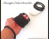 Shungite Chakra Healing Bracelet