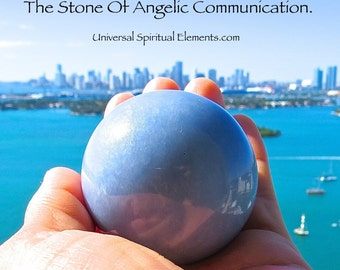 Angelite Sphere - Stone Of Angelic Communication