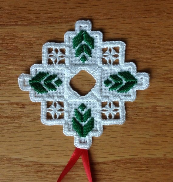 new 2013 hardanger holiday ornament