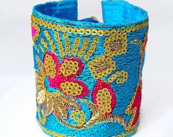 Fabric Cuff Bracelet_Byzantine Style