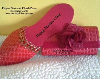 High Fashionable Keepsake Paper shoe card (Red)