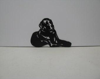 Labrador 005 Metal Wall Yard Art Silhouette