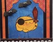 "Handmade Greeting Card ""Birdie Pirate Gone Batty""  Blank Inside"