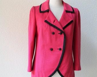 vintage 1960's Lilli Ann hot pink designer jacket/blazer