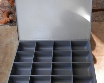 vintage sorting metal divided box would be great for beading or crafts