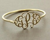 Monogrammed Filigree Bangle