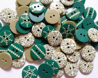 28 pcs Cute graphic printed Retro Buttons size 17mm