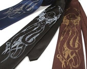 Men's Necktie - Microfiber Cthulhu Screenprinted Tie - Gift Wrapped