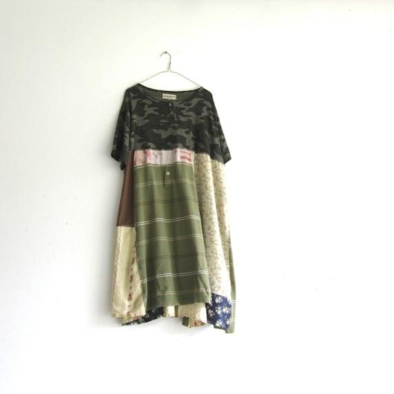 Funky Patchwork Boho Dress / Eco Tunic / Dress / Upcycled