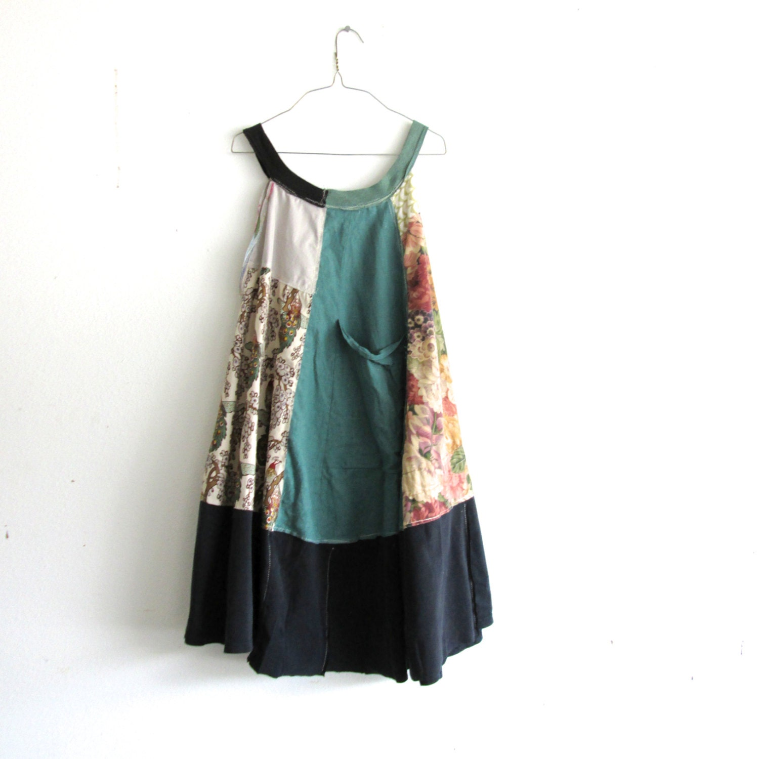 Romantic Upcycled Clothing / Patchwork Dress / Funky Tunic