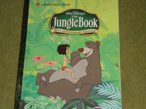 2015 12 Month Calendar Little Golden Book Disney THE JUNGLE BOOK Planner / Diary / Agenda / Journal / Book Pages Included Great Gift