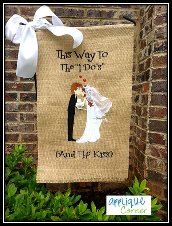 Attractive Items Similar To Unique This Way To The I Dou0027s Or Kiss Wedding Garden Flag;  Bridal, Wedding; Shower Gift On Etsy