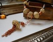 Copper Chain Tassel Convertible Necklace