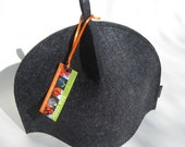 Standard size Tea Cozy Classic Clean in Grey Flannel wool felt FREE SHIPPING