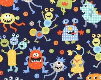 Michael Miller Monster Mash in Navy - by the yard