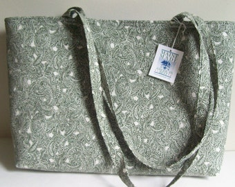 Paisley Large Tote Bag for Market