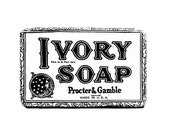 Bathroom Decor, Ivory Soap, Black and White Photography, Bath Wall Art, Vintage Soap Advertisement