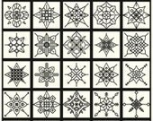 50 Blackwork Snowflakes