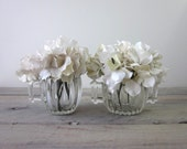 Clear Glass Creamer and Sugar Bowl Set