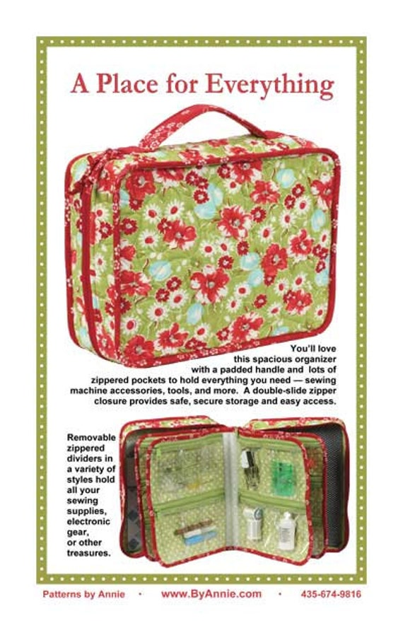 A Place For Everything Sewing Pattern For An Organizer
