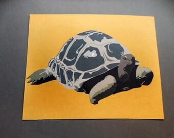 Tortoise art print 8 x 10
