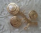 Vintage Three Generation Life Member Gold Filled Hadassah Brooch Pin