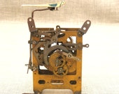 Vintage West German Cuckoo Clock Internal Mechanism / Brass Mechanism / Clock Gears - Classic Vintage