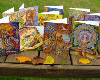 TEN Holly Sierra Art Cards - You CHOOSE Contents - A Group Of Fine Art Greeting Cards