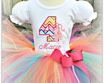 Rainbow Ballerina tutu Birthday Outfit
