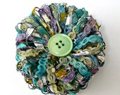Flower Brooch Lapel Pin Woven Flower Badge (3 inches across)