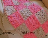 Instant download - Crochet Pattern - Little Squares Baby Afghan