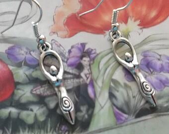 Goddess Earrings, Stocking stuffer