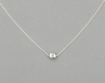 Initial P Bead Necklace