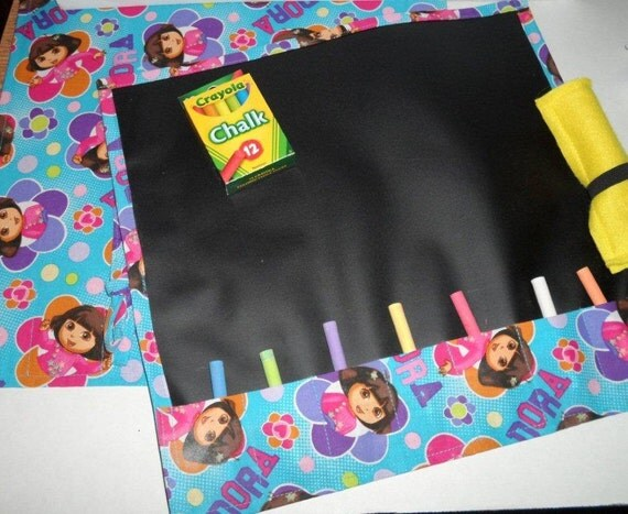 "Bright Beautiful DORA THE EXPLORER ""Chalk Board To Go"""