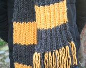 Hufflepuff-inspired Harry Potter scarf MADE TO ORDER