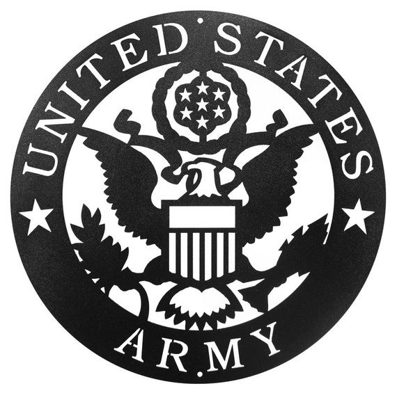 Hand Made Armed Services US Army Military Scenic Art Wall